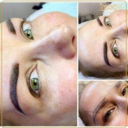 Makijaż permanentny brwi wykonany techniką ombre w mocniejszej wersji♥️ Czekamy na efekt po wygojeniu ♥️  Zapraszamy ♥️ ☎️ 662497510